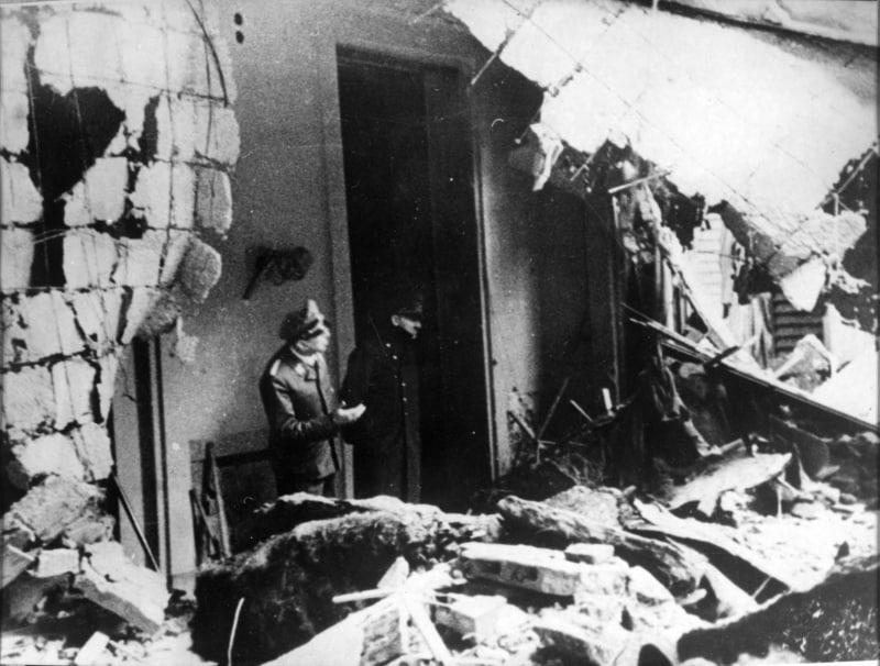 One of the last photos taken of Adolf Hitler