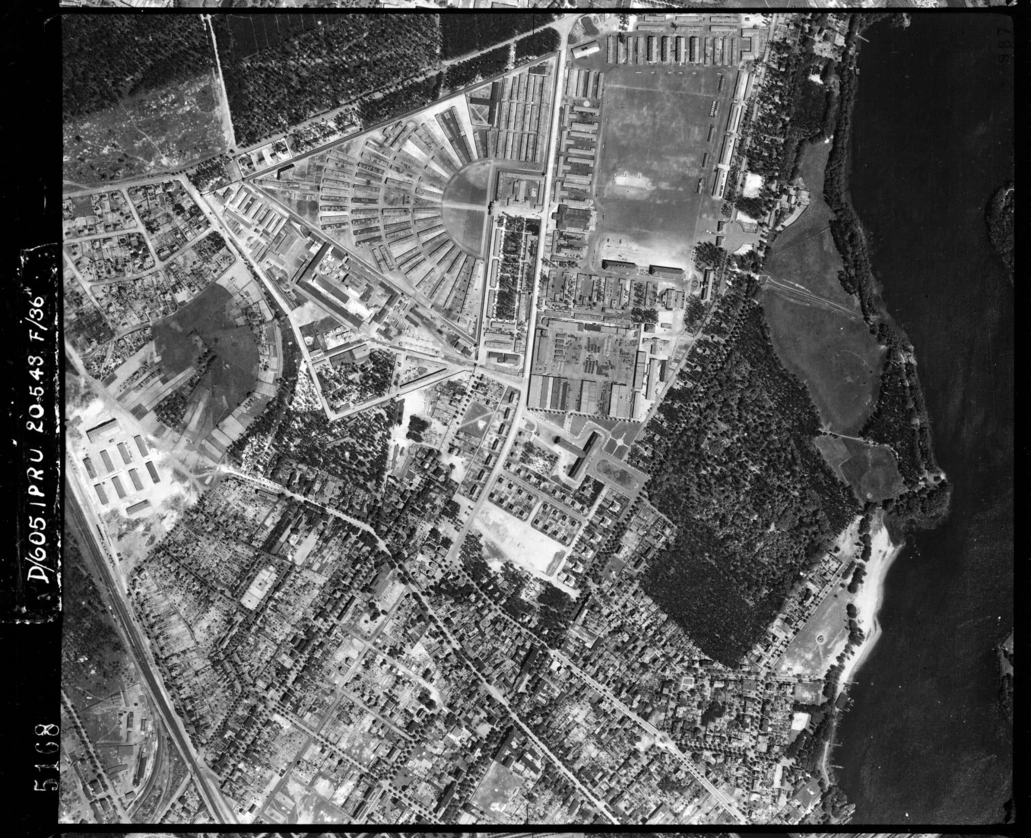 Aerial View of Sachsenhausen Concentration Camp