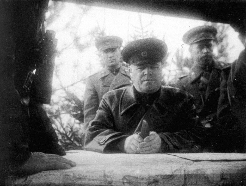 Soviet Marshal Zhukov at a command post