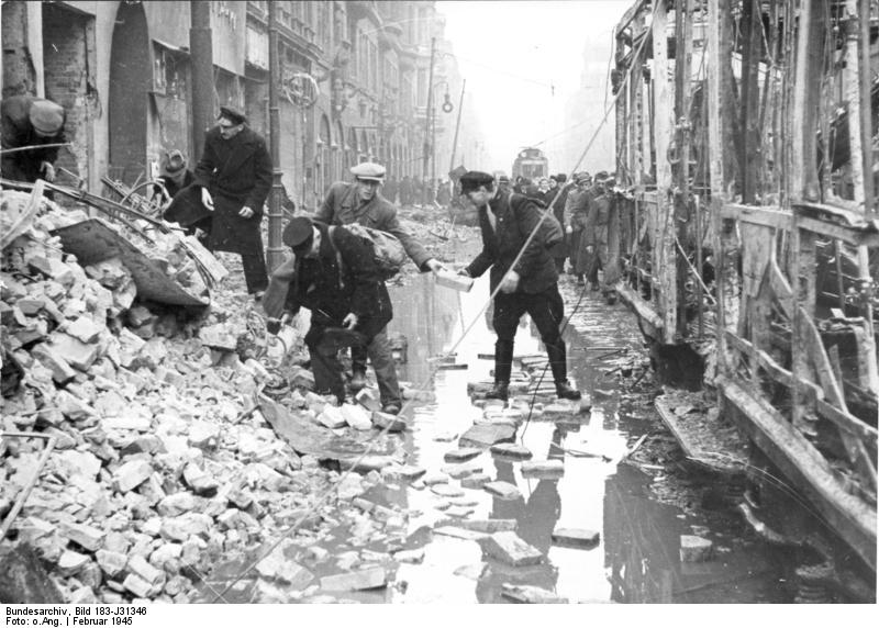The streets of the city before the Battle of Berlin