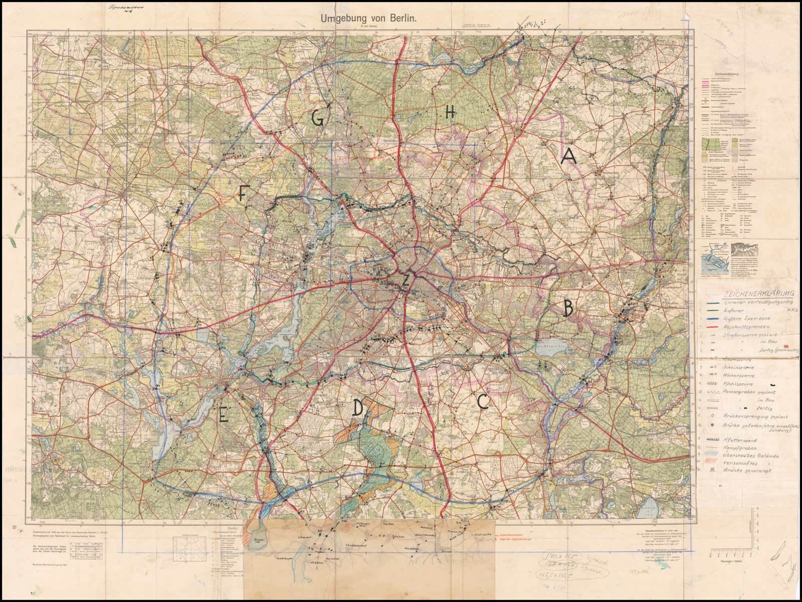 Berlin's defensive zones for the Battle of Berlin