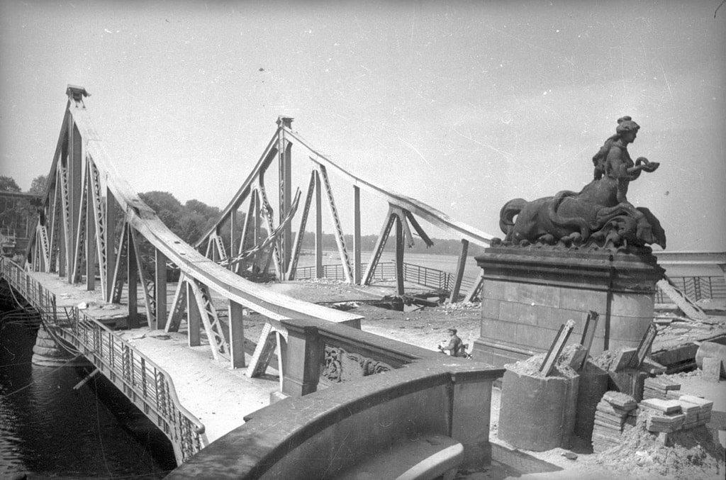 The Glienicke Brücke before its destruction on April 30th 1945