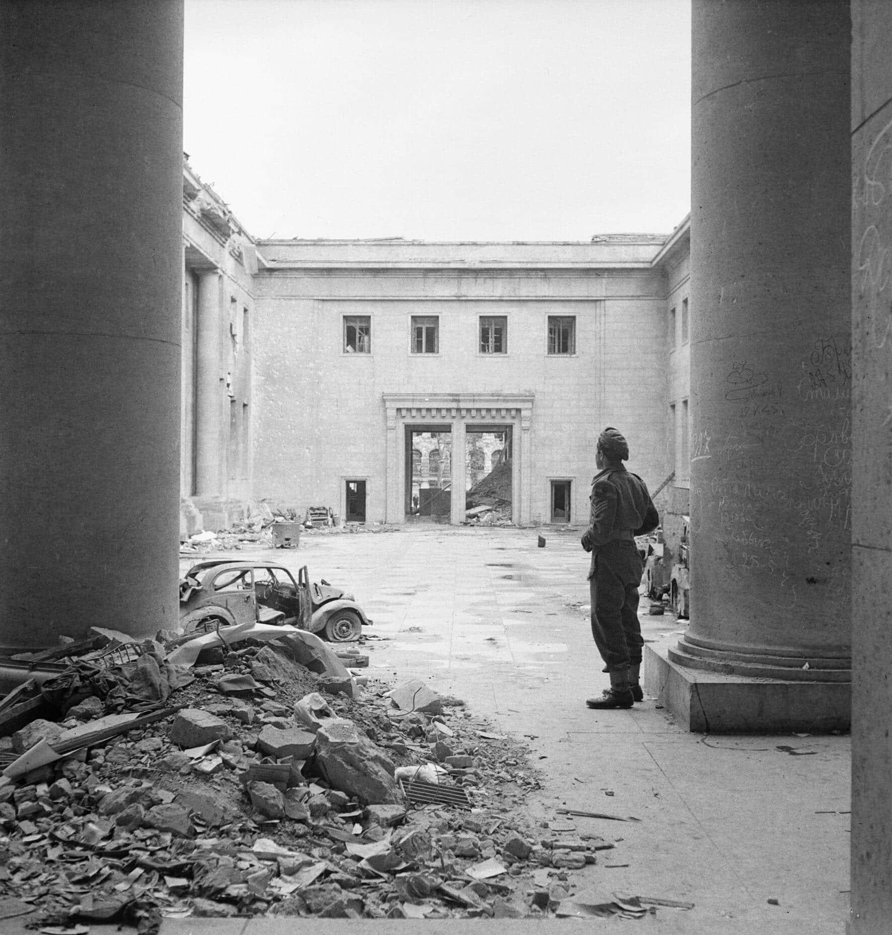 Hitler's Reich Chancellery in Berlin - 1945