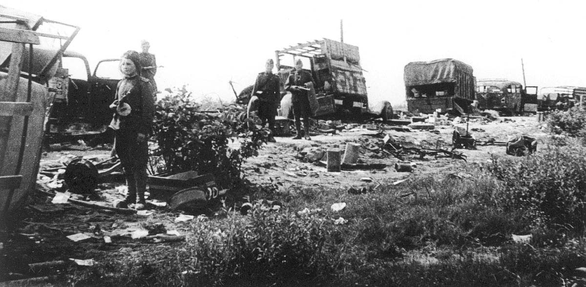 the road back to Berlin taken by the 9th Army