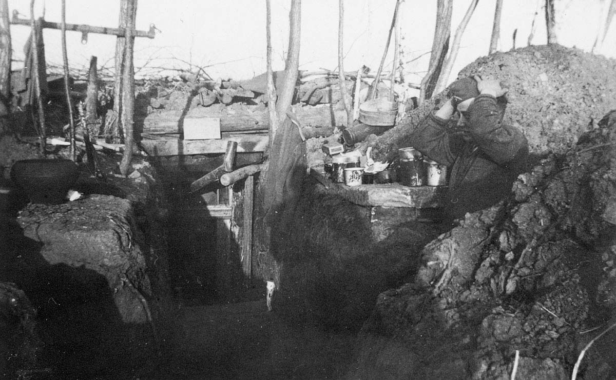 An exhausted German soldier of the 9th Army at Seelow Heights