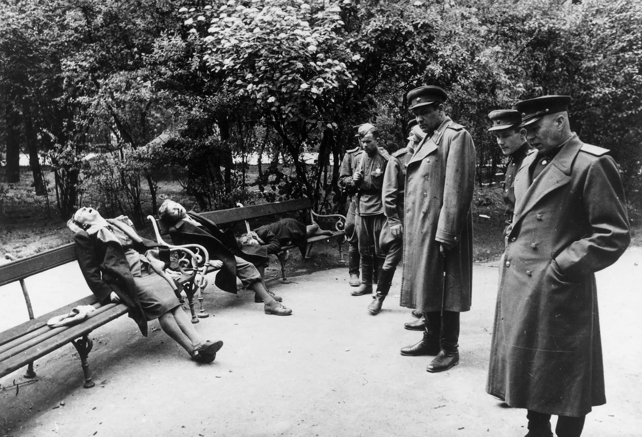 Mass suicides such as this discovered by the Soviets in Vienna would be a feature of Berliner lives in April 1945 - a month where almost 4,000 suicides would be official registered