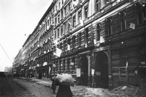 White flags on Berlin houses after surrender