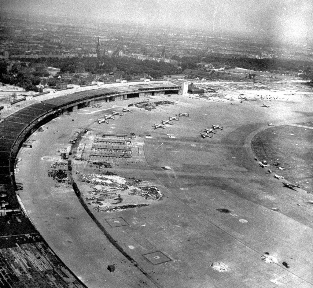 Tempelhof Airport at the end of the Battle of Berlin