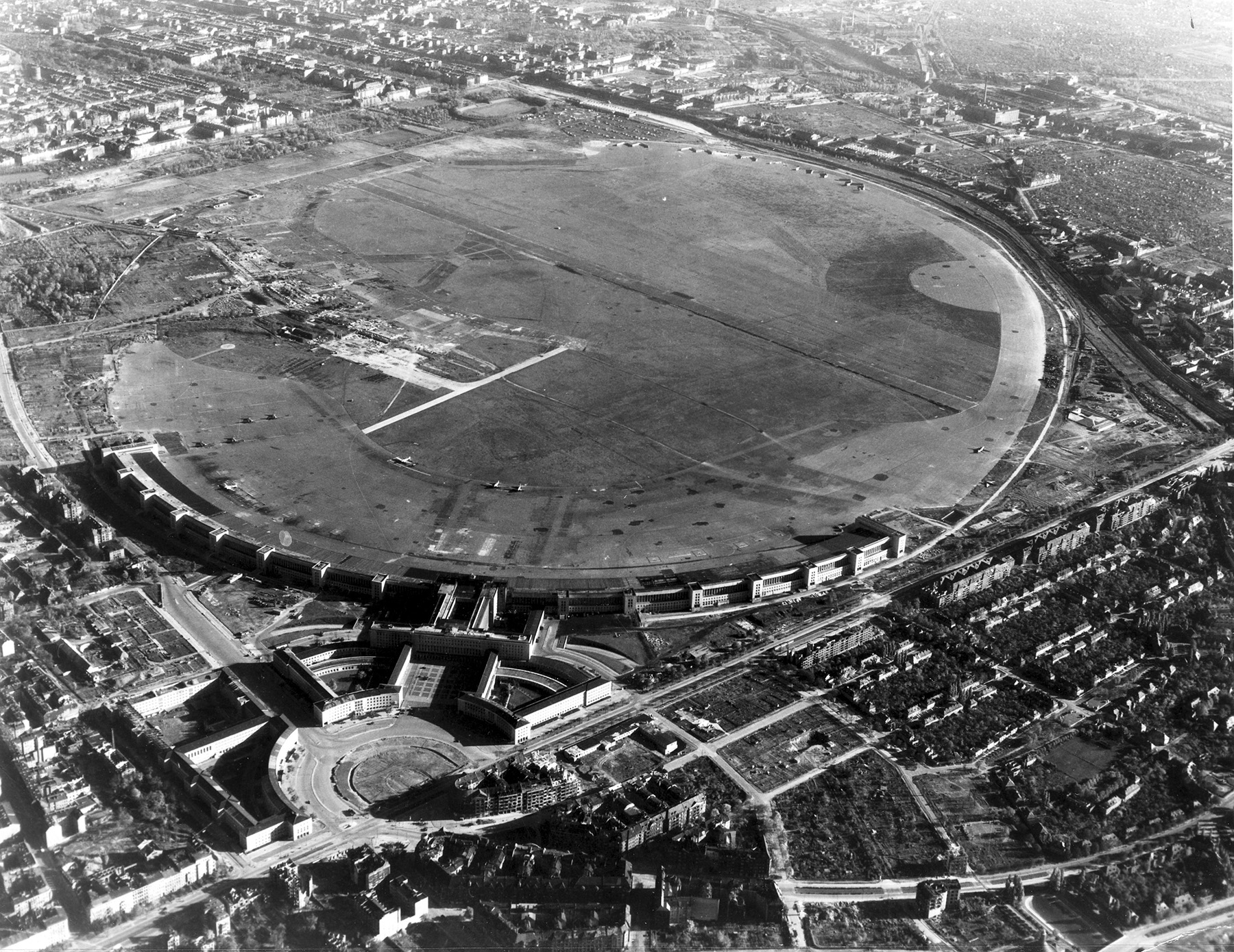 Berlin Tempelhof Airport from above