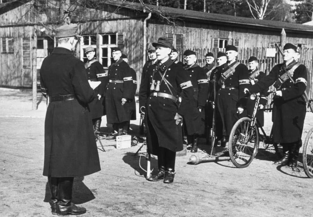 Volkssturm men preparing for the Battle of Berlin