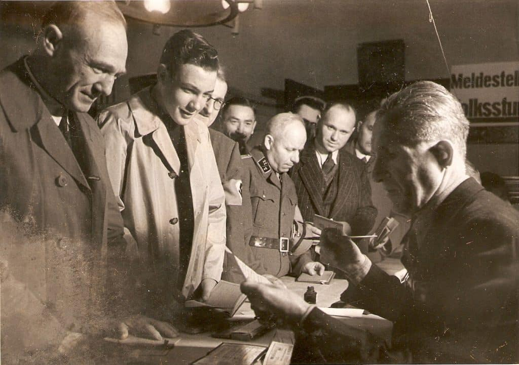Registration of Volkssturm men for the Battle of Berlin