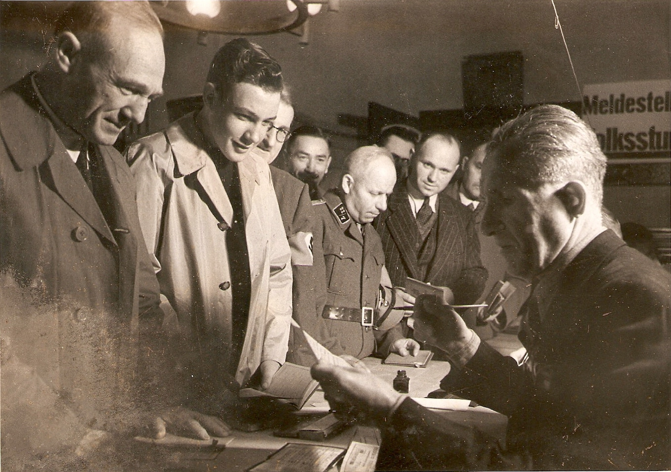 Registration of Volkssturm men for the Battle of Berlin