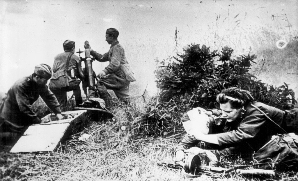 Soviet troops at Seelow Heights