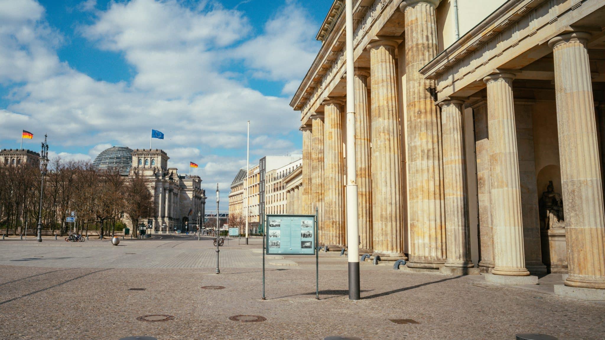 Brandenburg Gate from Platz der 18. März