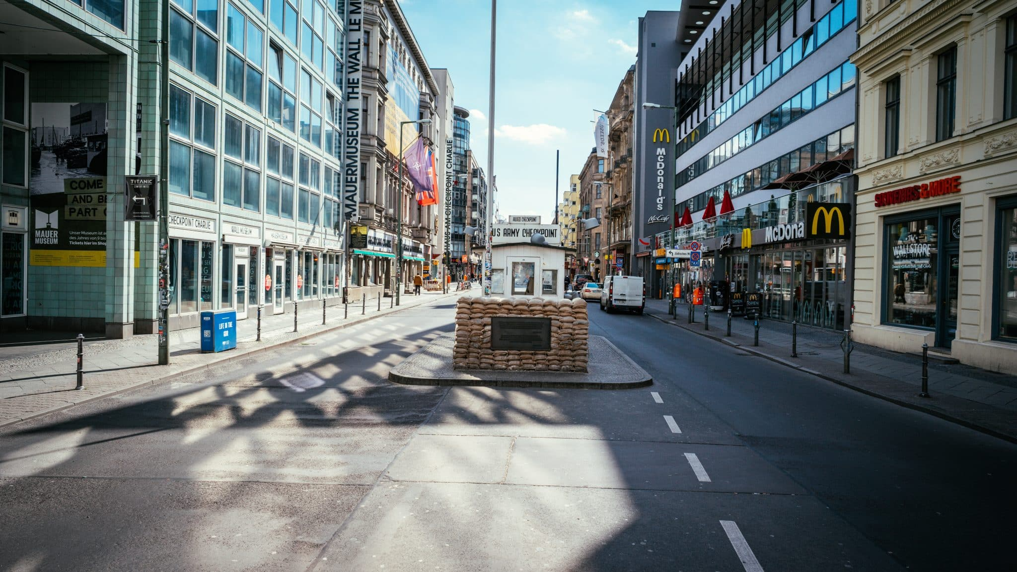 Former US military crossing at Checkpoint Charlie