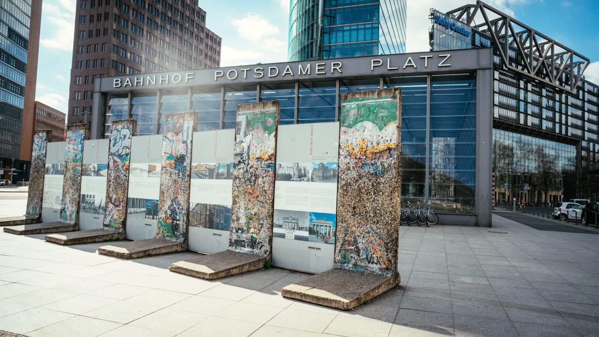 The Berlin Wall at Potsdamer Platz