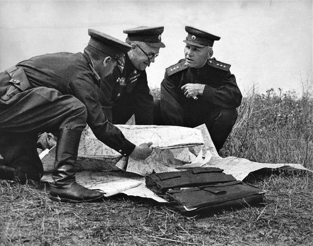 Marshals Zhukov and Konev