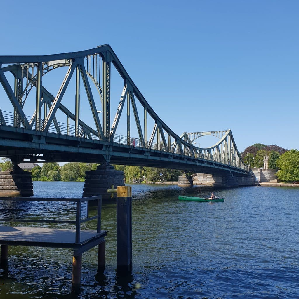 The River Havel flowing under the Bridge of Spies
