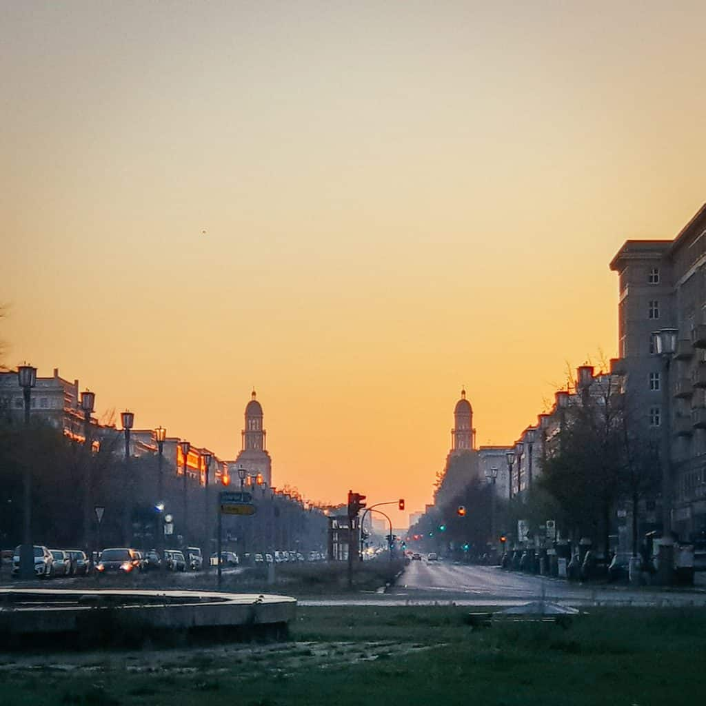 Karl Marx Allee Sunset