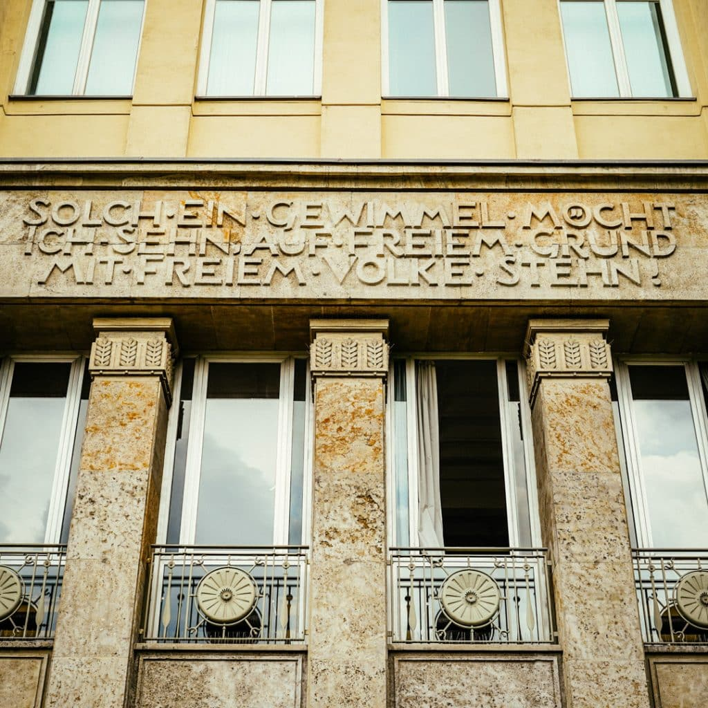 Detail on Haus A on Karl Marx Allee