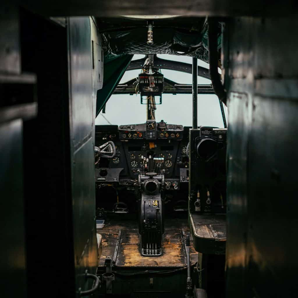 Inside a British Hastings at the Allied Museum