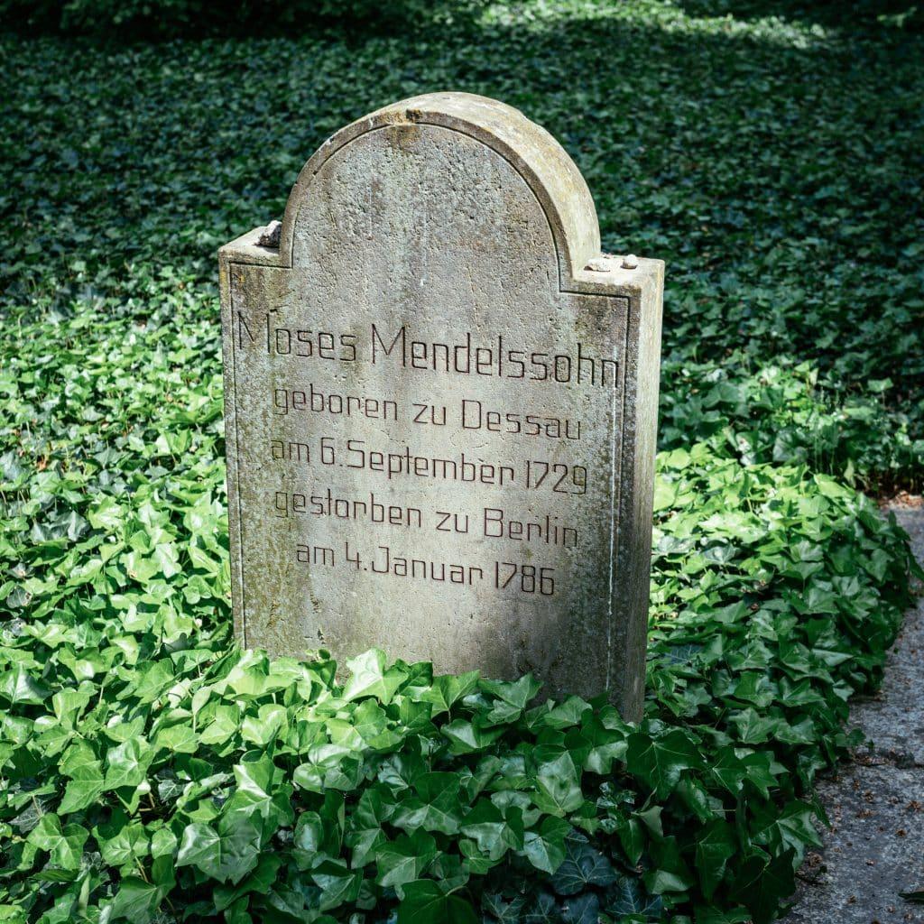 Moses Mendelssohn's grave in the former Jewish Quarter of Berlin