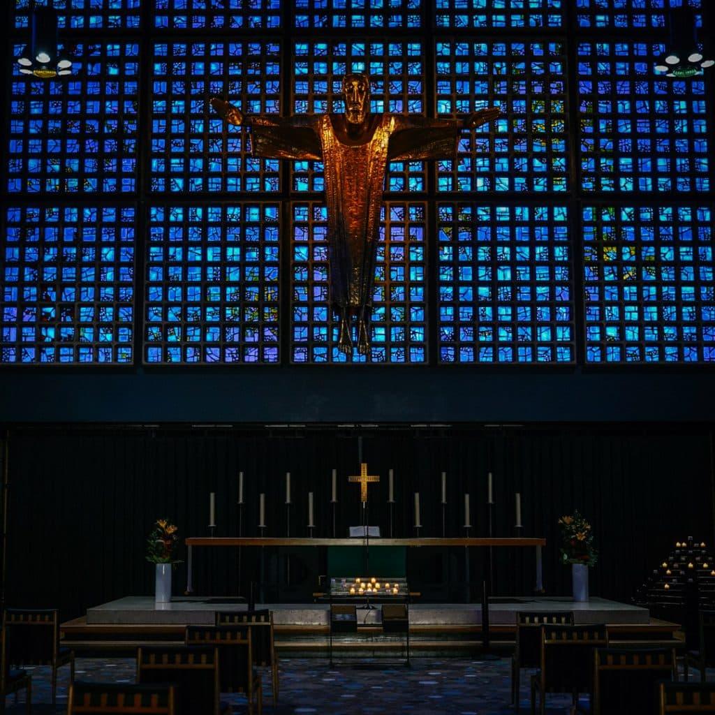 Inside the new Kaiser Wilhelm Gedächtnis Kirche