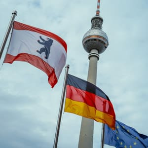 The Berlin Flag and the TV Tower