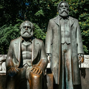 The Marx and Engels Statues in Berlin