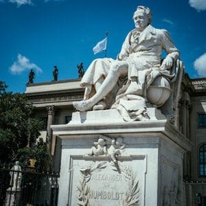 The Alexander von Humboldt Statue on Unter den Linden