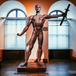Die Wehrmacht Statue in The German History Museum in Berlin