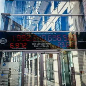 The Debt Clock in Berlin