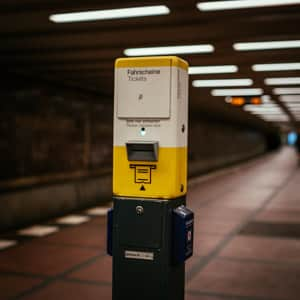 The Ticket Stamping Maching in the Berlin Metro