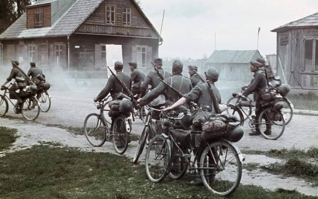 German infantry on bicycles during the invasion of the Soviet Union