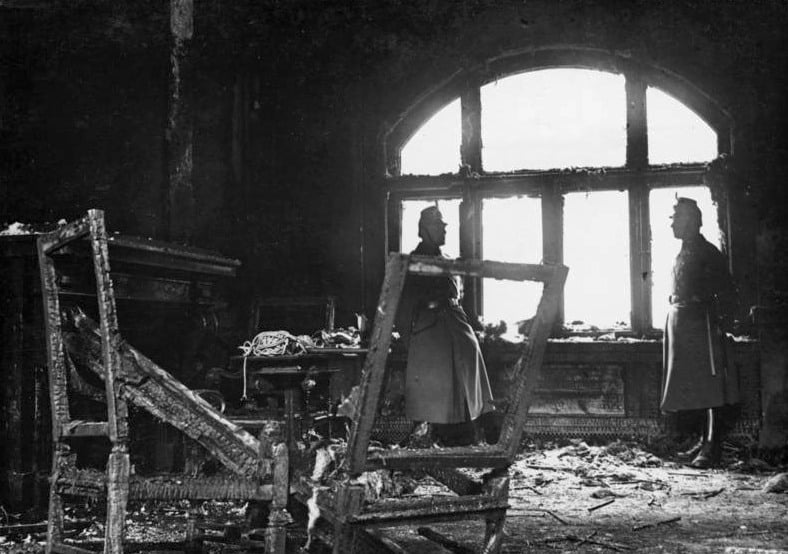 Burnt out interior of the Reichstag, February 28th 1933