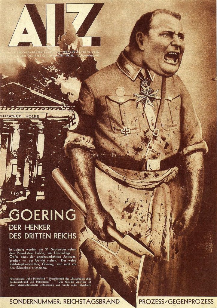 Hermann Göring - depicted on the cover of the Arbeiter Illustrierten Zeitung by John Heartfield