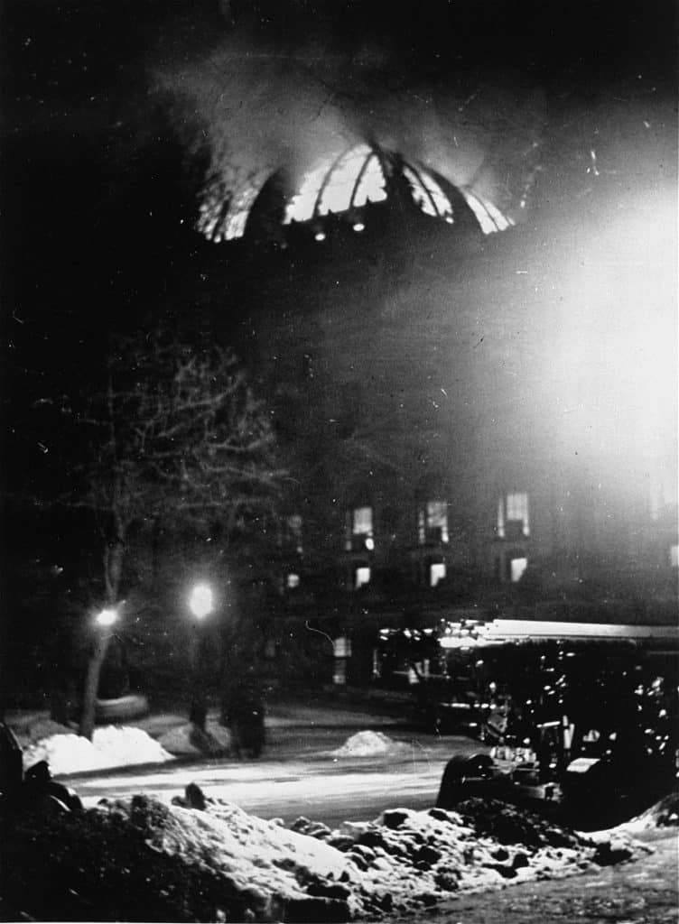 Reichstag in flames, February 27th 1933