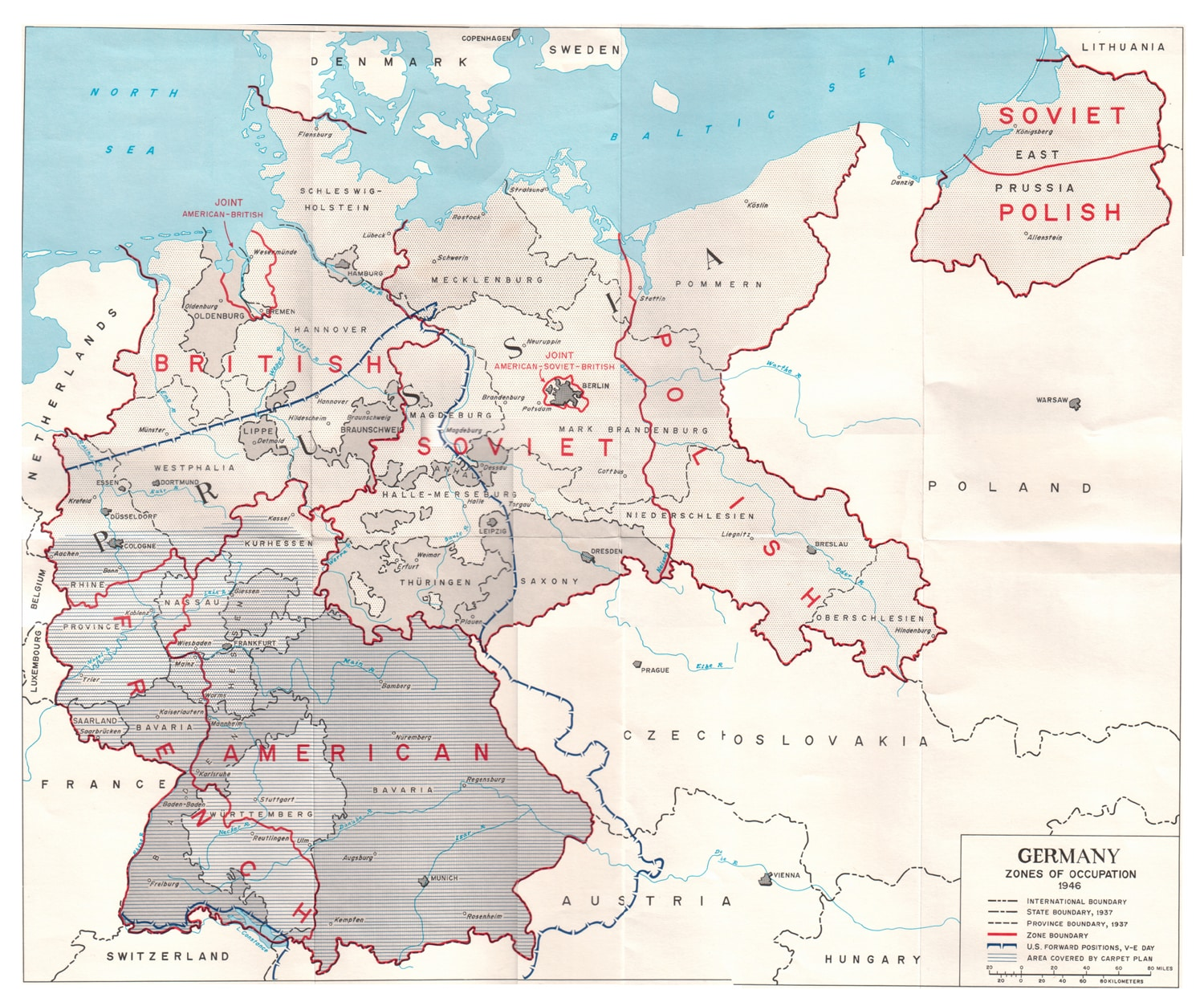 US Army map of Germany 1944-46