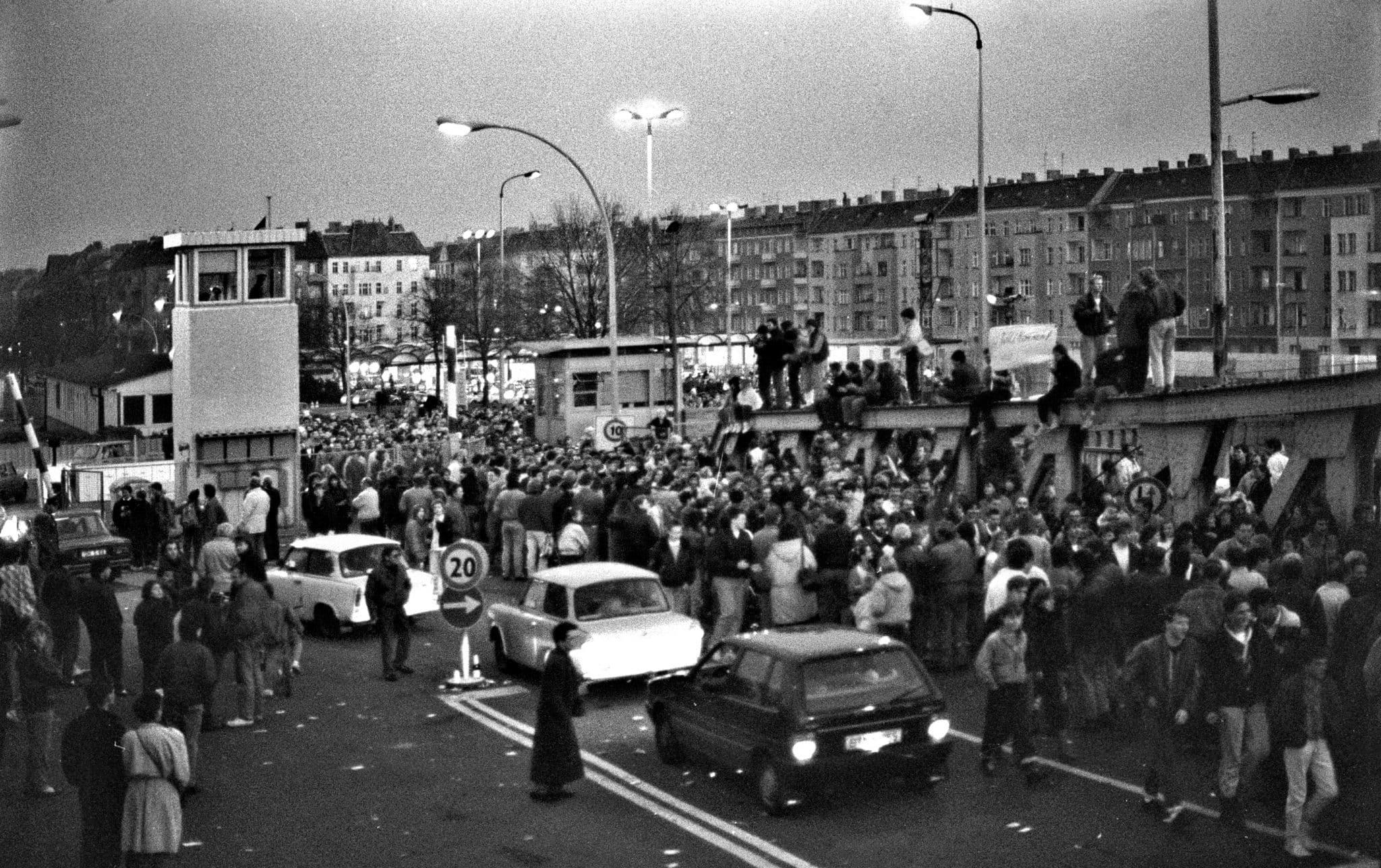 The Bornholmerstrasse Crossing in November 1989
