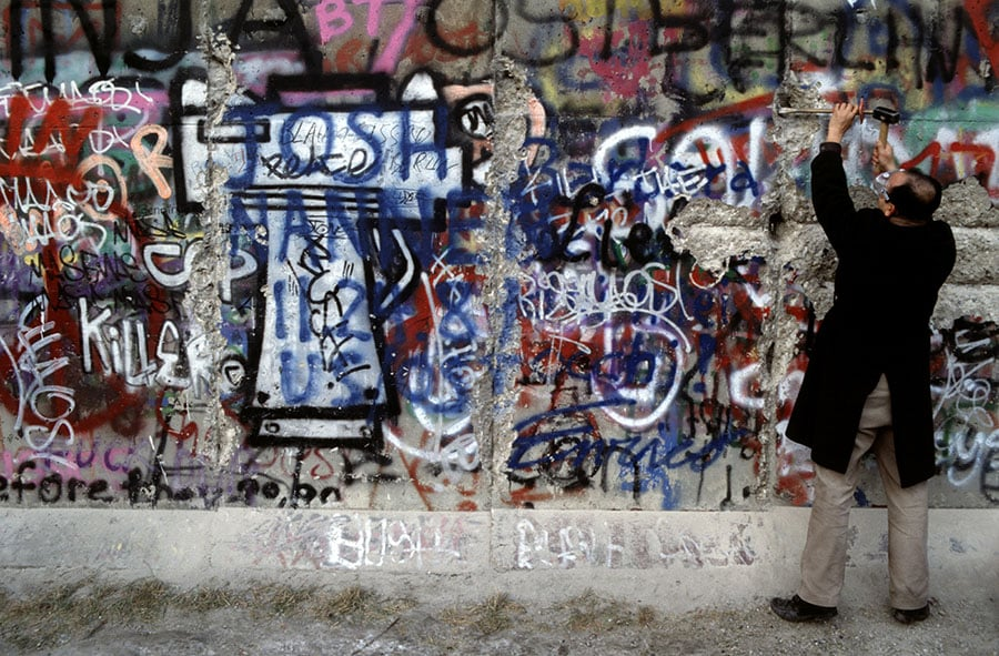 The Fall of the Berlin Wall in 1989