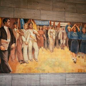 The Unser Land Mural on Platz des 17. Juni