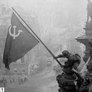 The iconic 'Raising a flag over the Reichstag' by Yevgeny Khaldei/Mil.ru