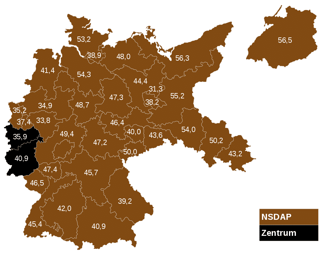 Reichstag Election Results 1933