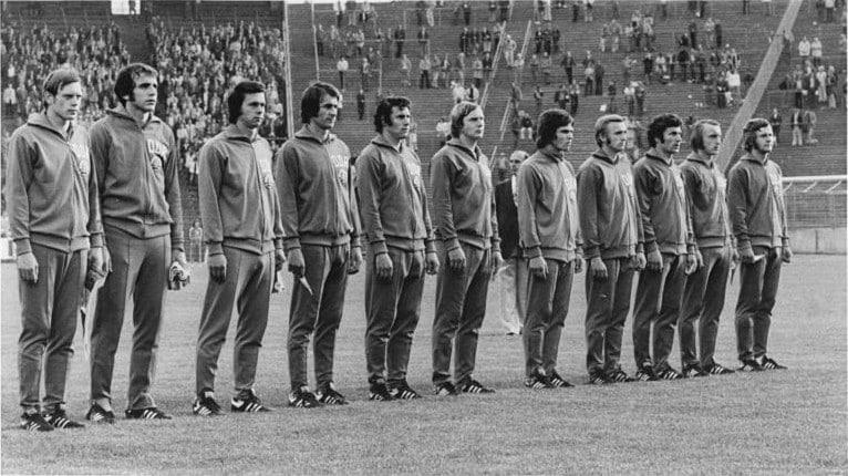 East German Football Team 1972