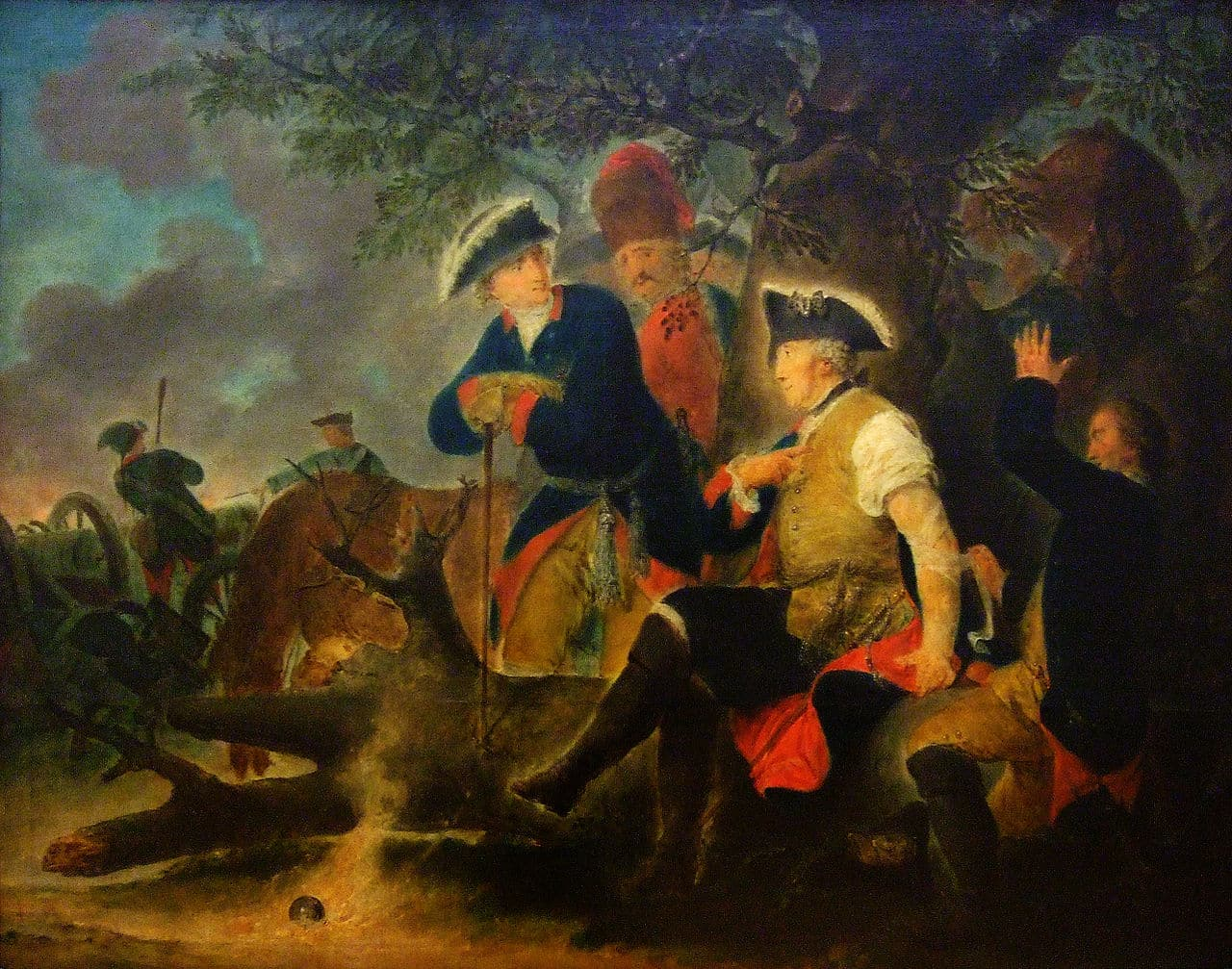 Prussian King Frederick the Great in 1778 during the 'Potato War' by Bernhard Rode
