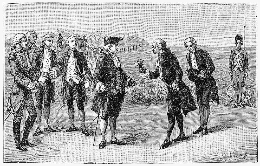 French Pharmacist Antoine Parmentier presenting Louis XVI with a potato
