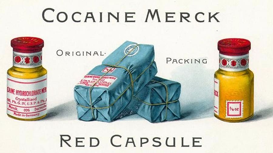 Touted as a remedy for the morphine addiction suffered by many former US Civil War soldiers, Merck cocaine would acquire many famous advocates - including Sigmund Freud