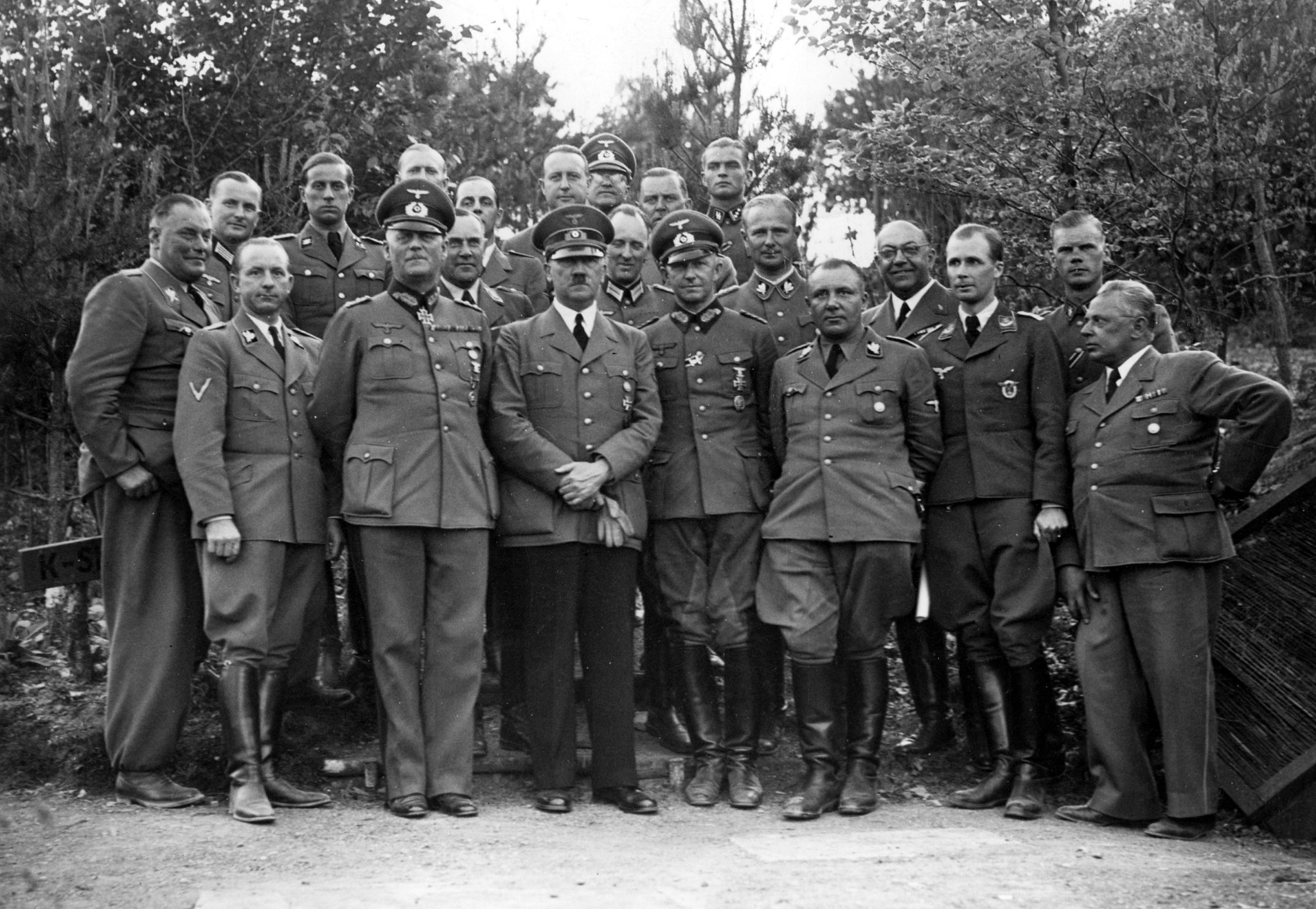 Adolf Hitler group photo with Theo Morell
