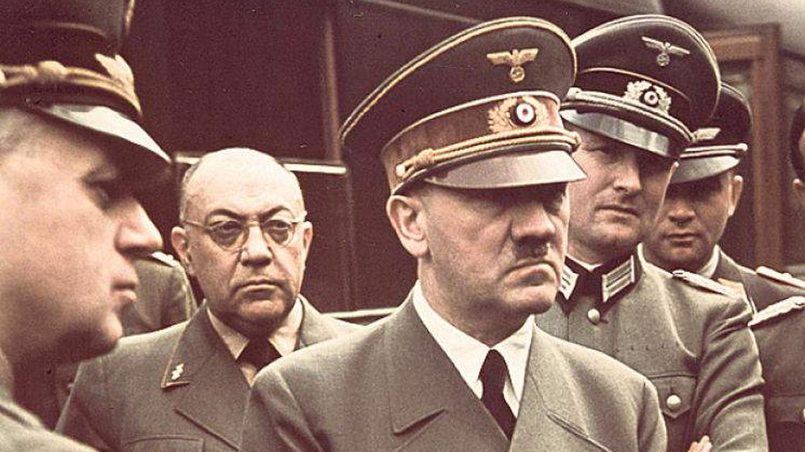 Adolf Hitler's personal Dr Feelgood - Theo Morell (second from left)