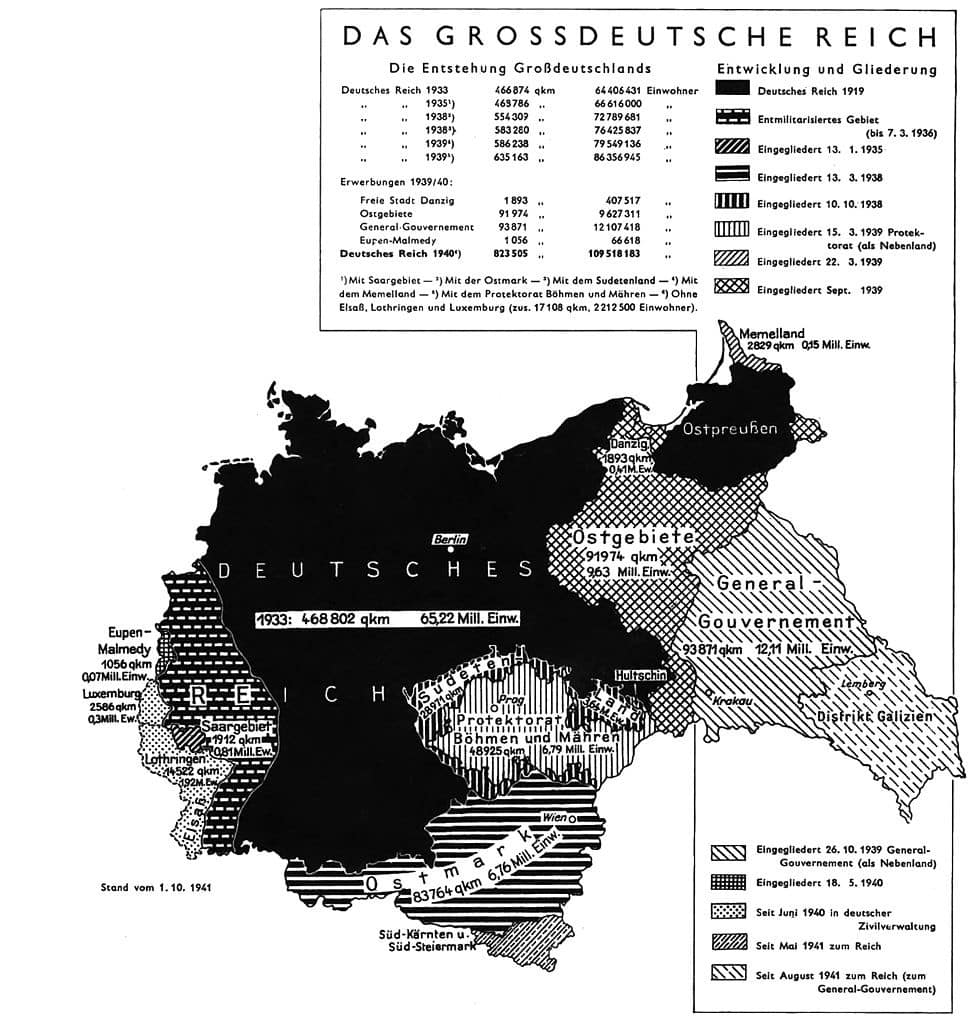 The Potsdam Conference - July 18th 1945 - A German Army Map from 1941 explaining the countries' borders before the invasion of the Soviet Union